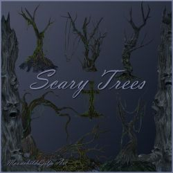 Scary Trees png by moonchild-ljilja