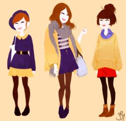 Japanese Girls by Cheeky-Bee