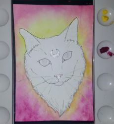 Moon cat - work in progress by CaptainBeth