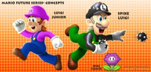 Future Luigi and son- concepts by xXLightsourceXx