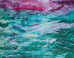 Storm At Dusk by tracybutlerart
