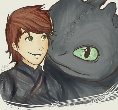 Hiccup and Toothless by xsweetsillygirl