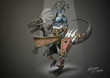 Troll Raptor Rider by WHDiong