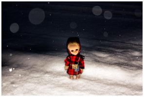 Little Miss No Name In The Snow by decima