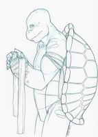 Sketch - Ninja Turtle by limeykat
