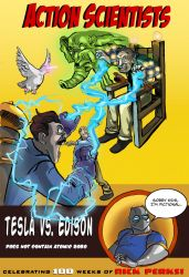 Action Tesla and Edison by SeanMcFarland