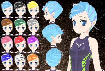 Space Girl Hair pack by Daiger1975