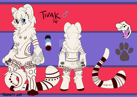 Tivak ref sheet by Takarti