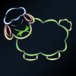 Neon sheep by jlryan