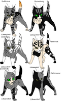 Warrior cat adoptables 24 by Shadowpaw909