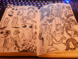 sketchbook #1 by 123nukume