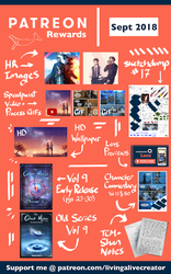 September 2018 Patreon by LivingAliveCreator