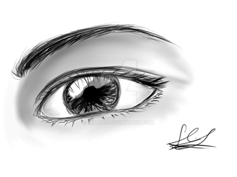 Eye Digital Sketch by Cialing