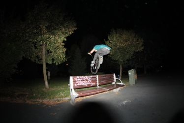 Bunny Hop Whip over the bench by cosmin00