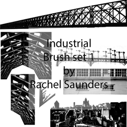 Industrial brush set 1 by Random-Acts-Stock
