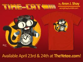 Time-Cat Shirt by AronDraws