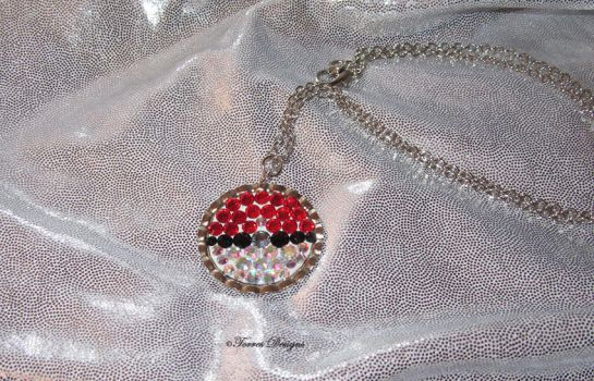 Custom Swarovski Pokemon Pokeball Necklace by TorresDesigns