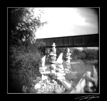 holga pile of rocks by electricjonny