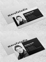 Black-Bold Free PSD  Business Card Template by maruf1