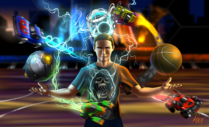 Commission: Rocket League by Digi-Ink-by-Marquis