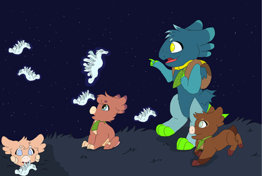 Lumibuds- watching Moonweeds by kopaisfluffy