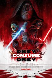 The Last Jedi Theatrical Poster CONSUME They Live by HalHefnerART