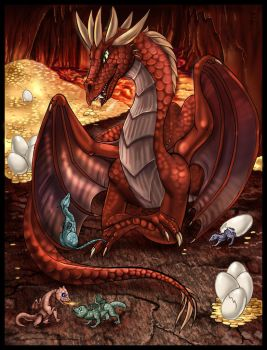 Mother Dragoness by arania