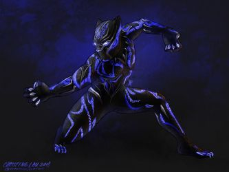 The Black Panther by Asenceana