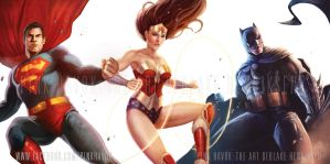 The Justice League by pinkhavok