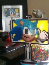 [PERLER] Sonic CD Sign by TheNinToaster