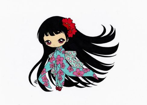 Little Japanese Girl Colored by Maiko-Girl