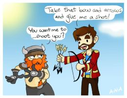 The Yogscast - Bow and Arrows by RatherPeculiar