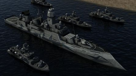 Guided Missile Destroyer and Fast Attack Ships by Helge129