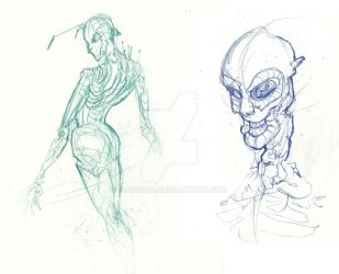 character sketching by saA3d0o