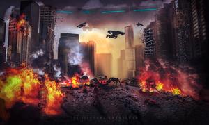Alien Attack by Jchandekar