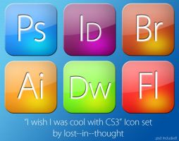 I wish I was cool CS3 Icons by lost--in--thought