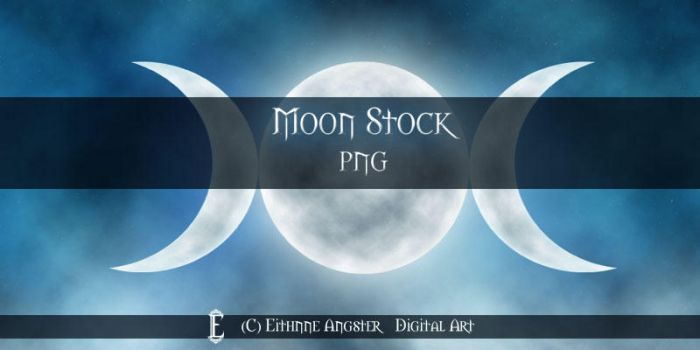 Moon STOCK by Eithnne
