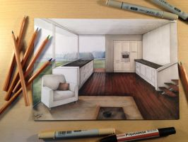 Rendering Manual / Architecture Interior by casoroxart