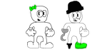 SFT11 and PFT11 (CupHead Styled) by Spongecat1