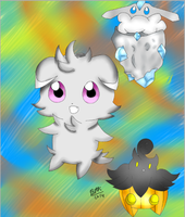 Espurr Pumpkaboo And Carbink