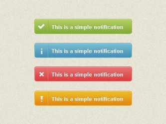 notification bar - 4 colours by umutavci
