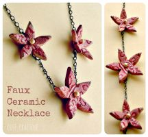 Faux Ceramic with air dry clay - necklace by ro78