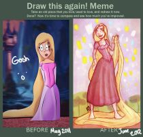 Draw this again - Rapunzel by Antoine97