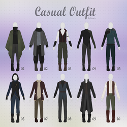 (CLOSED) CASUAL Outfit Adopts 29 [MALE] by Rosariy