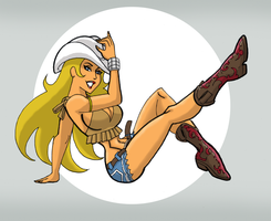 Just Another Cowgirl by johnnyharadrim