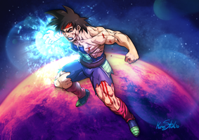 Bardock Last Fight!!! by Kumsmkii