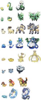 Sprites pt.1 by Pokekoks