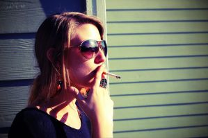 Sunny Days and Cigarettes by NeverLandFairy40