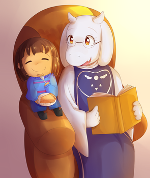 Toriel and Frisk 30012016 by Lucky-Sonic-77-d