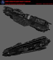 Halo: UNSC Epoch-class heavy carrier by Malcontent1692